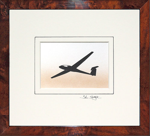 Glider - Design No.1 in Walnut Veneer Frame