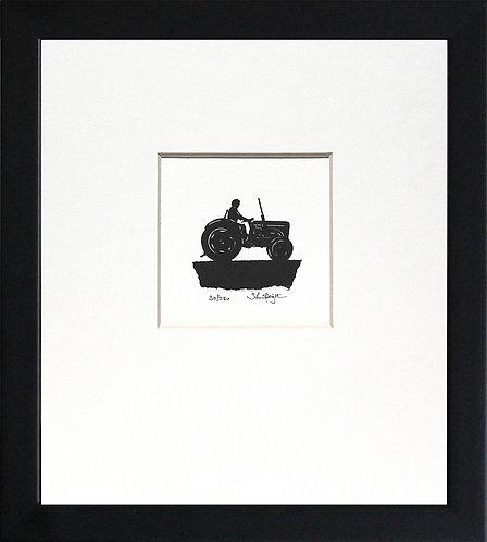 Vintage Tractor in Black Frame