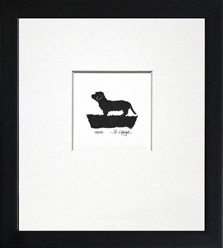 Dachshund - Wire Haired in Black Frame