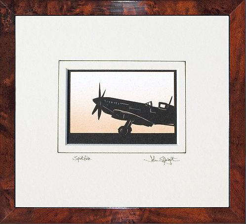 Spitfire - Front in Walnut Veneer Frame