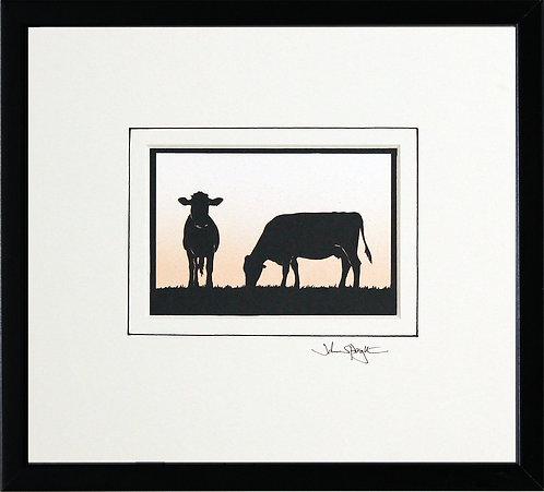 Cows in Black Frame