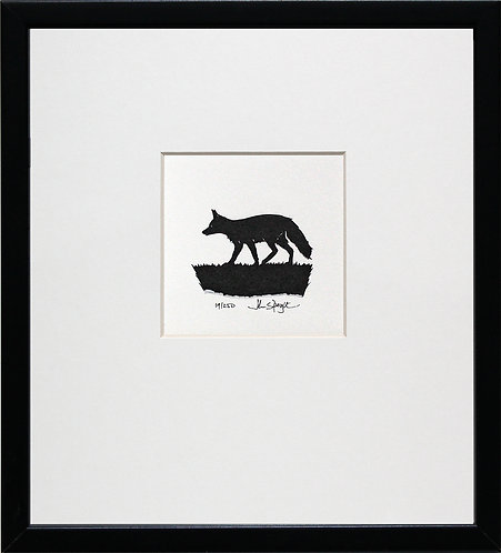 Fox in Black Frame