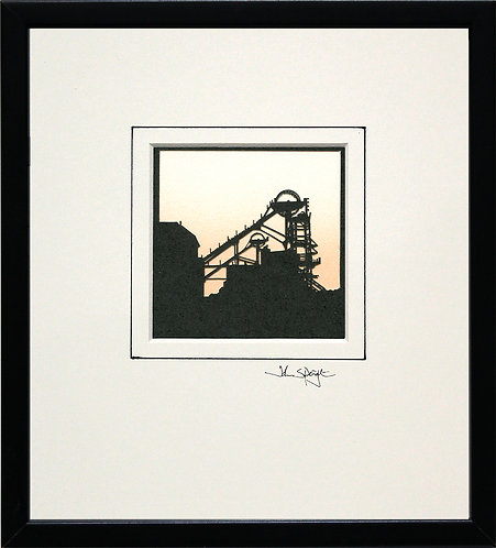 Colliery (Woodhorn) in Black Frame