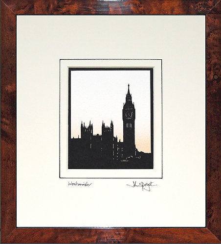London Westminster in Walnut Veneer Frame