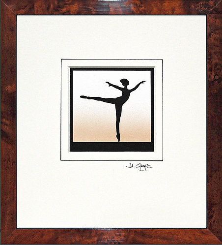Ballerina in Walnut Veneer Frame