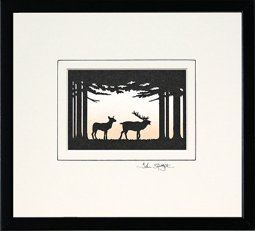 Deer in Black Frame