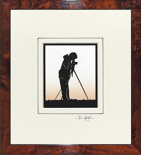 Photographer in Walnut Veneer Frame