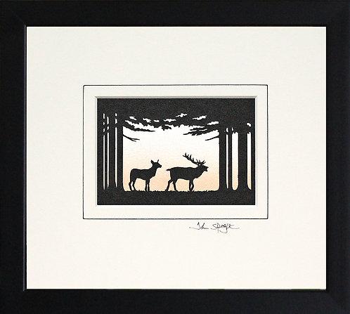 Deer in Black Frame