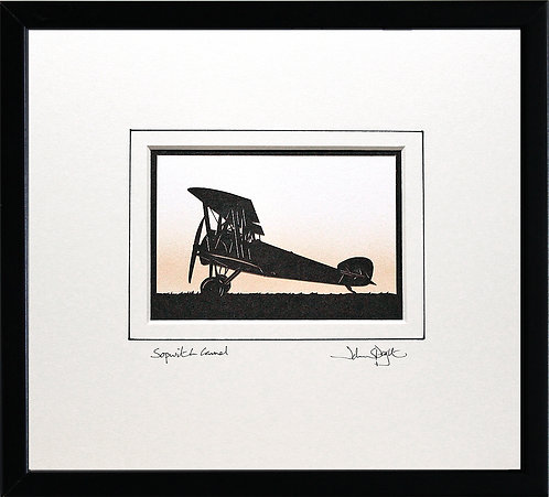 Sopwith Camel in Black Frame