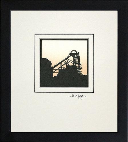 Colliery (Woodhorn) in Black Frame