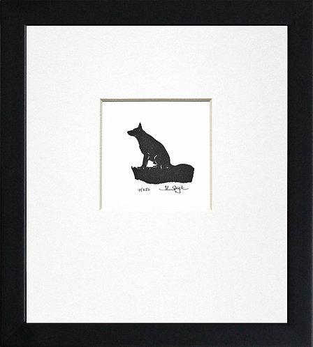 German Shepherd in Black Frame