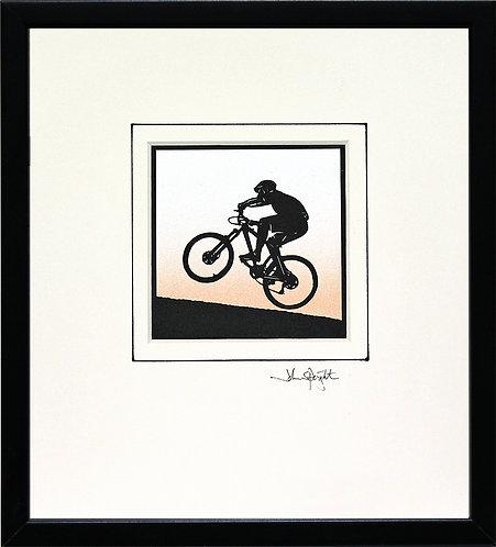 Cyclist - Mountain Biker in Black Frame