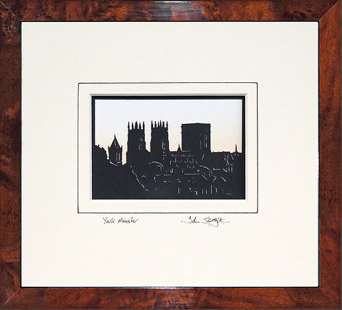 York Minster in Walnut Veneer Frame
