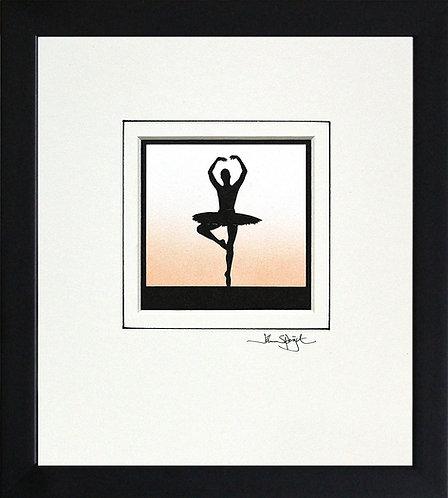 Ballerina - Pirouette in Black Frame