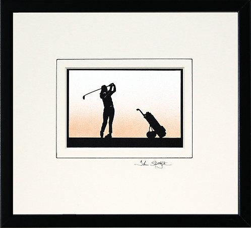 Golfer - Female in Black Frame