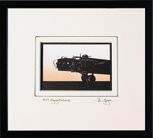 B-17 Flying Fortress - Front in Black Frame