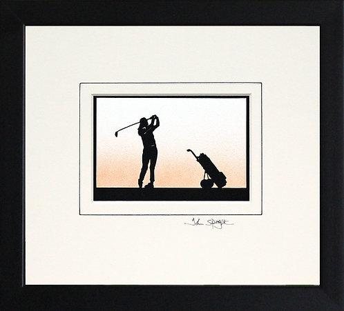 Golfer - Female in Black Frame