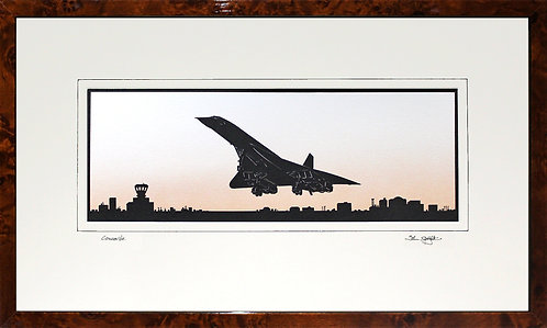 Concorde in Walnut Veneer Frame