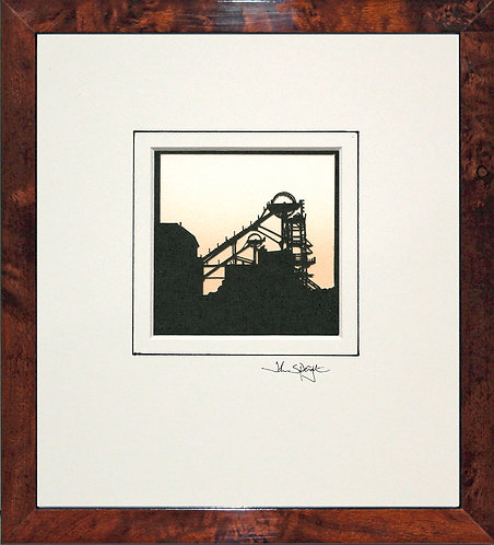 Colliery (Woodhorn) in Walnut Veneer Frame
