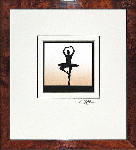 Ballerina - Pirouette in Walnut Veneer Frame