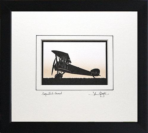Sopwith Camel in Black Frame