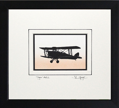 Tiger Moth in Black Frame