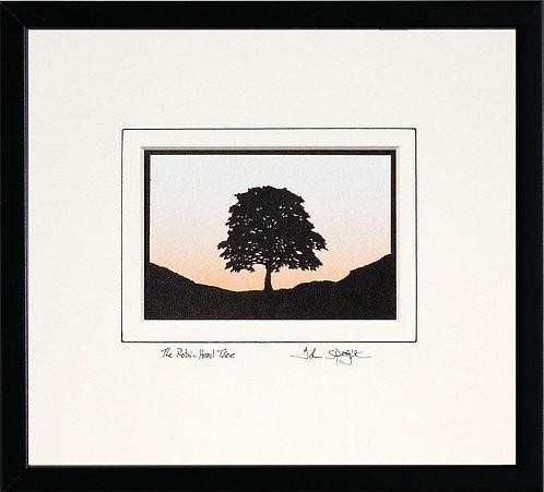 Robin Hood Tree - Landscape Version in Black Frame