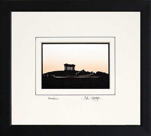 Penshaw Monument in Black Frame