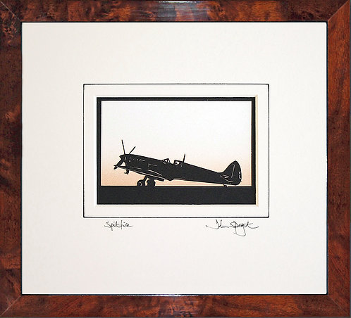 Spitfire - Full Plane in Walnut Veneer Frame