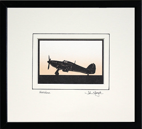 Hurricane - Full Plane in Black Frame