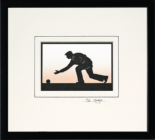 Bowls Player - Male in Black Frame