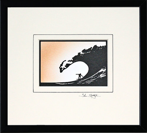 Surfing in Black Frame