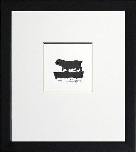 Sussex Spaniel (Docked Tail) in Black Frame