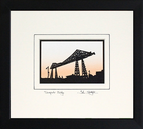 Transporter Bridge Middlesbrough in Black Frame