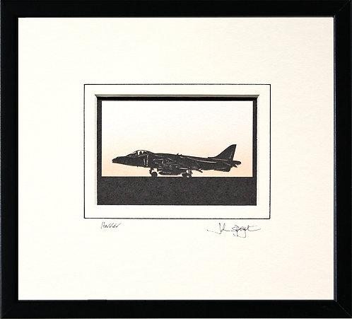 Harrier in Black Frame