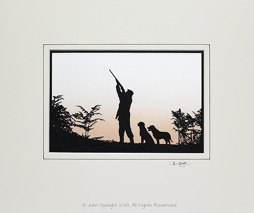 Shooter with Labradors - Large