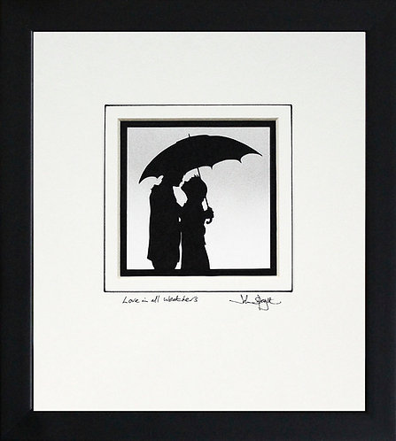 Love in All Weathers in Black Frame