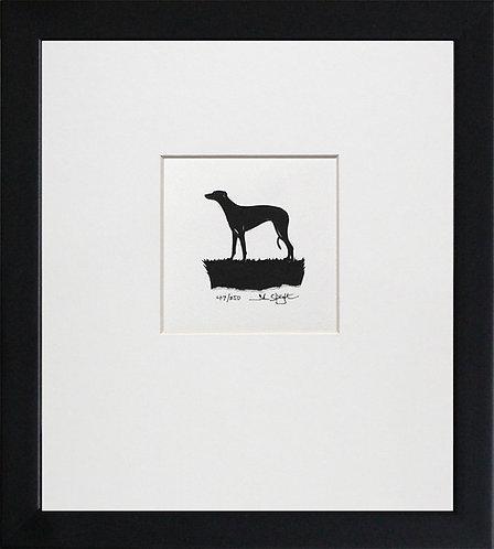 Greyhound in Black Frame