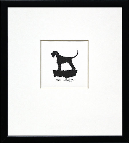 Giant Schnauzer - Full Tail in Black Frame