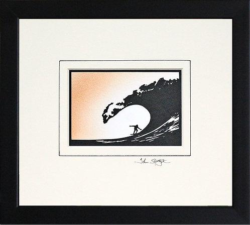 Surfing in Black Frame