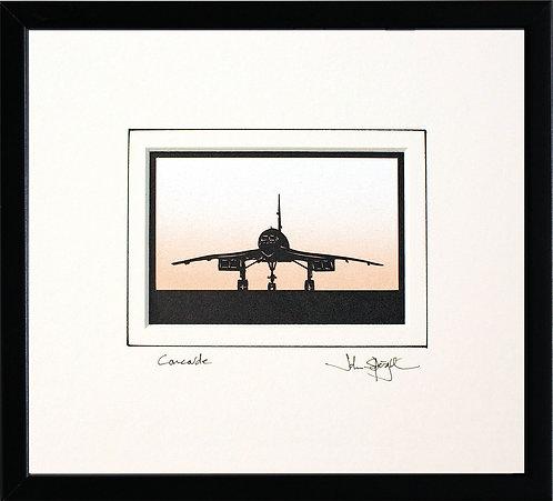 Concorde in Black Frame