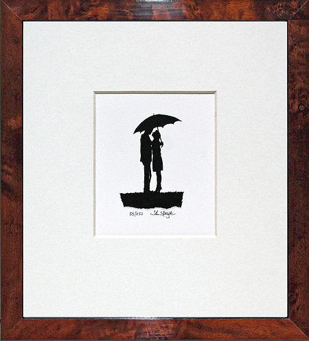 Love in All Weathers in Walnut Veneer Frame