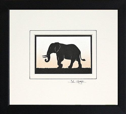 Elephant in Black Frame