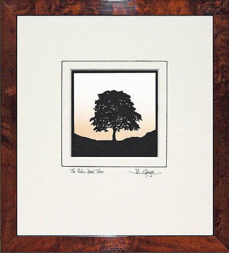 Robin Hood Tree - Square Version in Walnut Veneer Frame
