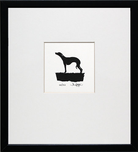 Whippet in Black Frame
