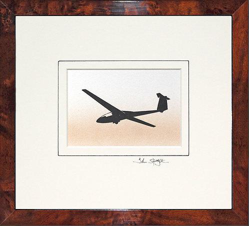 Glider - Design No. 3 in Walnut Veneer Frame