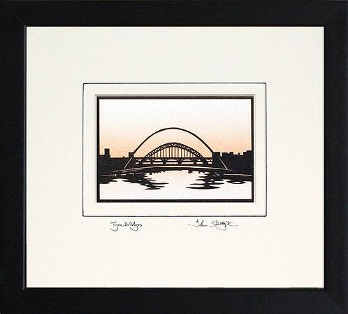 Tyne Bridges in Black Frame