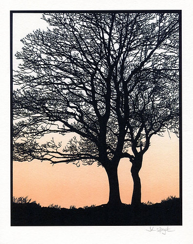 """Two Trees 10"""" x 8"""" Giclee Print Signed"""