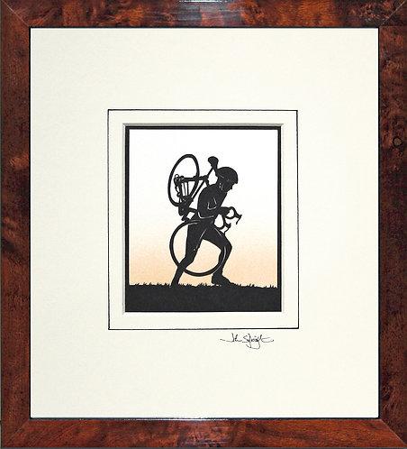 Cyclo-Cross in Walnut Veneer Frame