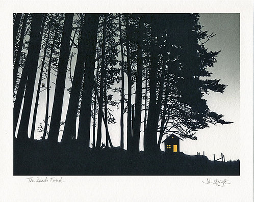 """The Black Forest  10"""" x 8"""" Giclee Print Signed"""